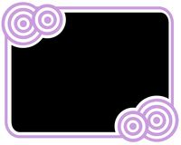 черная рамка круга Стоковое Изображение