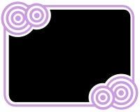 черная рамка круга иллюстрация штока