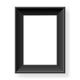 черная рамка реалистическая Стоковое Изображение RF