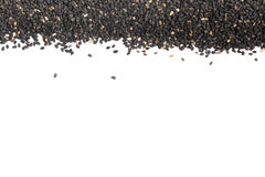 Черная рамка сезама Стоковое фото RF