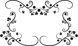 черная рамка swirly Стоковая Фотография