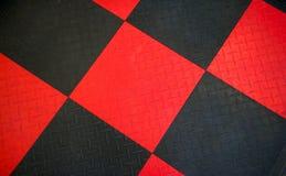 Черная резиновая циновка Не-выскальзывания Стоковое Изображение RF