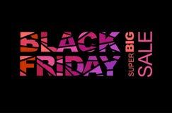 Черная реклама пятницы Стоковое Изображение RF