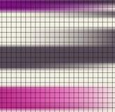 Черная решетка квадратной бумаги на красочной striped розовой коричневой предпосылке иллюстрация штока