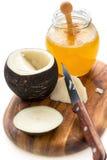 Черная редиска с медом Естественный выход для кашлей стоковое изображение
