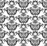 черная роскошная безшовная белизна обоев Стоковое Изображение RF
