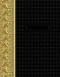 черная роскошь золота конструкции крышки Стоковое фото RF