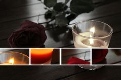 черная свечка Стоковая Фотография