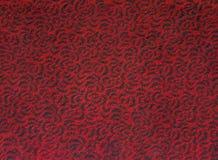 Черная свирль текстуры картины пола красного ковра Стоковые Фото