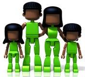 черная семья minitoy Стоковая Фотография