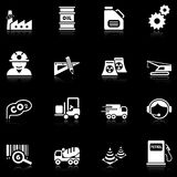 черная серия индустрии икон Стоковое Фото