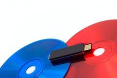черная синь красит красную технологию Стоковое фото RF