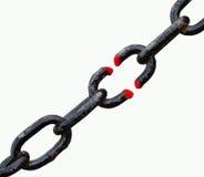 черная сломанная цепь Стоковое Изображение