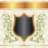 Черная сметанообразная предпосылка золота Стоковые Фото