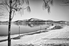 Черная снежная гора Стоковое фото RF