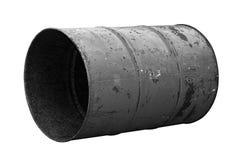 Черная старая ржавчины масла бочонка изолированная на белой предпосылке Стоковое фото RF