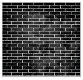 черная стена текстуры картины цвета кирпича Стоковая Фотография
