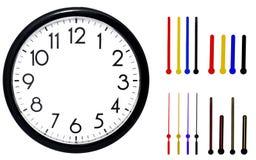 черная стена часов белизна изолированная предпосылкой Стоковые Фото