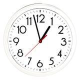 черная стена часов белизна изолированная предпосылкой Стоковое Фото