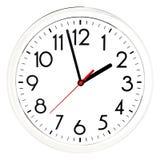 черная стена часов белизна изолированная предпосылкой Стоковое Изображение RF