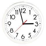 черная стена часов белизна изолированная предпосылкой Стоковые Фотографии RF