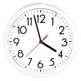 черная стена часов белизна изолированная предпосылкой Стоковая Фотография RF
