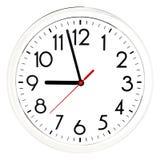 черная стена часов белизна изолированная предпосылкой Стоковые Изображения RF