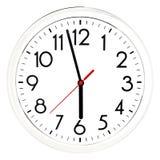 черная стена часов белизна изолированная предпосылкой Стоковое Изображение