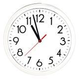 черная стена часов белизна изолированная предпосылкой Стоковые Изображения