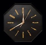 черная стена часов Стоковые Изображения RF