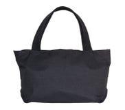 Черная сумка хлопка изолированная на белизне Стоковое Изображение