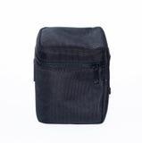 Черная сумка для объектива на белой предпосылке Стоковое фото RF