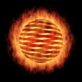 черная сфера пожара Стоковые Фото