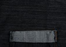 черная текстура джинсыов Стоковое Изображение RF