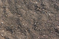 Черная текстура земли Стоковые Фотографии RF