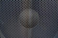Черная текстура клеток металла Стоковое Фото