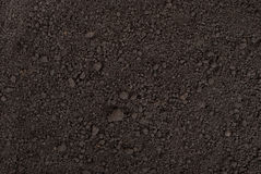 Черная текстура почвы Стоковое Изображение