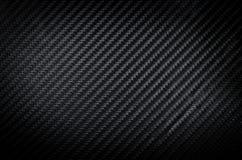 Черная текстура предпосылки волокна углерода Стоковые Изображения