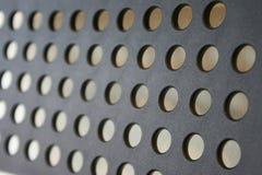 Черная текстура с предпосылкой отверстий Стоковое Изображение