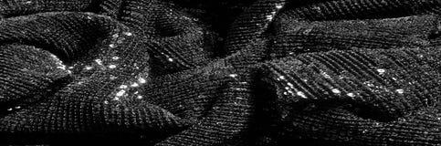 Черная ткань с paillettes делает ослеплять дебютом этот черный b стоковая фотография rf