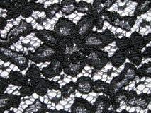 Черная ткань шнурка Стоковые Изображения RF