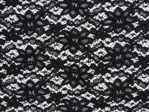 Черная ткань шнурка Стоковые Фотографии RF