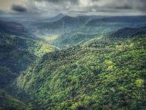 Черная точка зрения национального парка ущелий реки стоковые фотографии rf