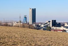 Черная угольная шахта Стоковое Изображение RF