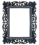черная флористическая рамка богато украшенный Стоковые Изображения