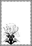 черная флористическая рамка Иллюстрация штока