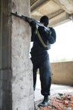 черная форма воина винтовки Стоковые Изображения RF