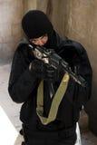 черная форма воина винтовки Стоковое Изображение
