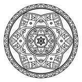 Черная флористическая мандала бесплатная иллюстрация