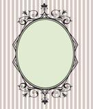 Черная флористическая рамка Стоковые Изображения